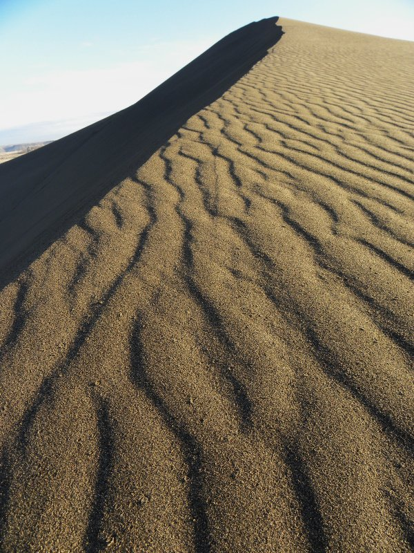 Sand Ripples on the Smaller Dune