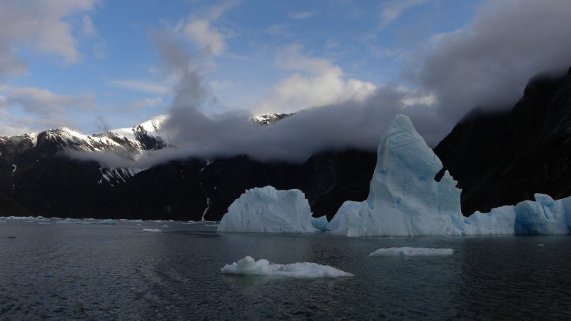 Iceburg and Low Clouds