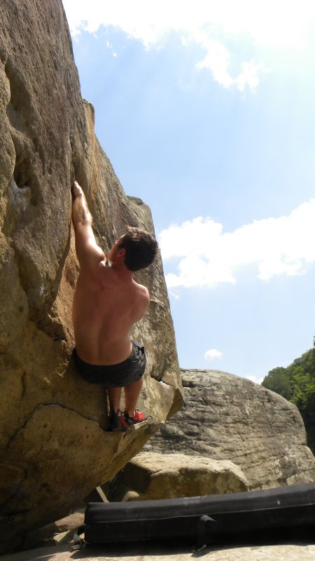 Climbing at Hawks Nest