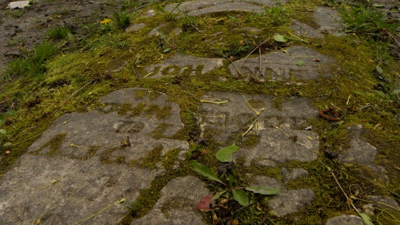 Fallen Gravestone