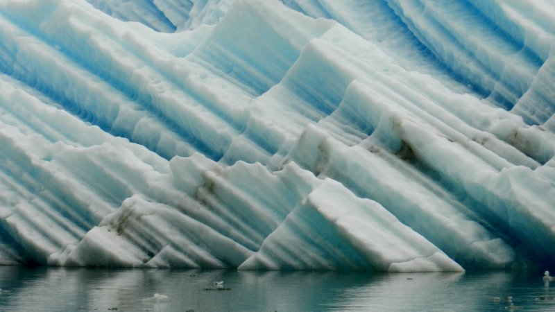 Layered Glacial Ice