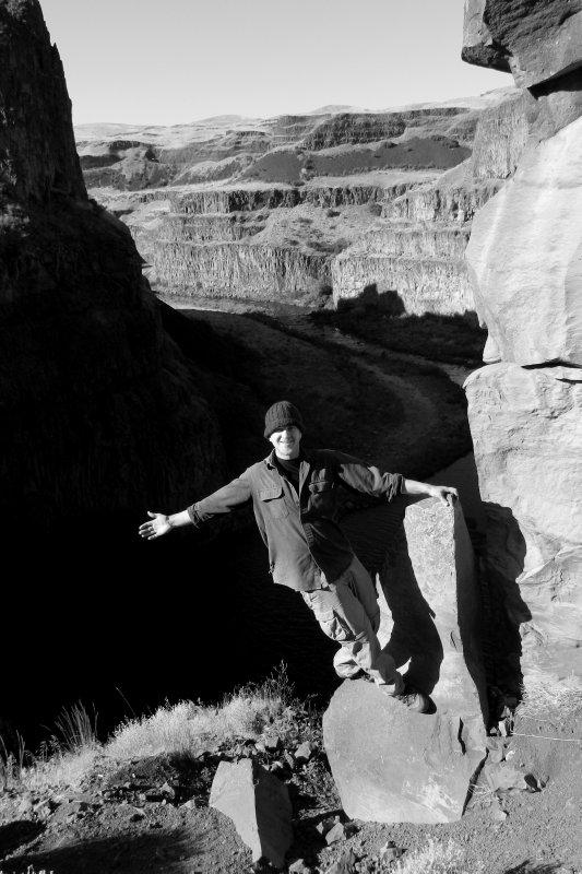 Self Portrait Palouse Falls
