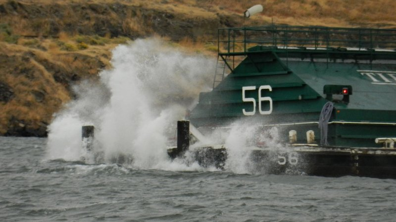 A Barge Smashing Into the Wind