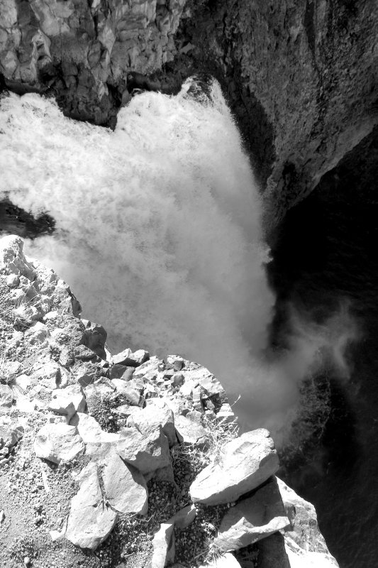 Looking down at the Lip of the falls
