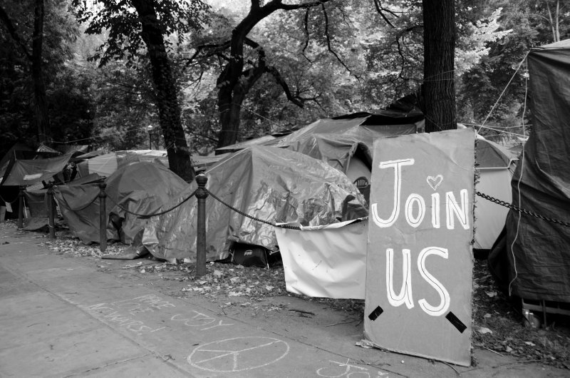 A Tent City in the City Park