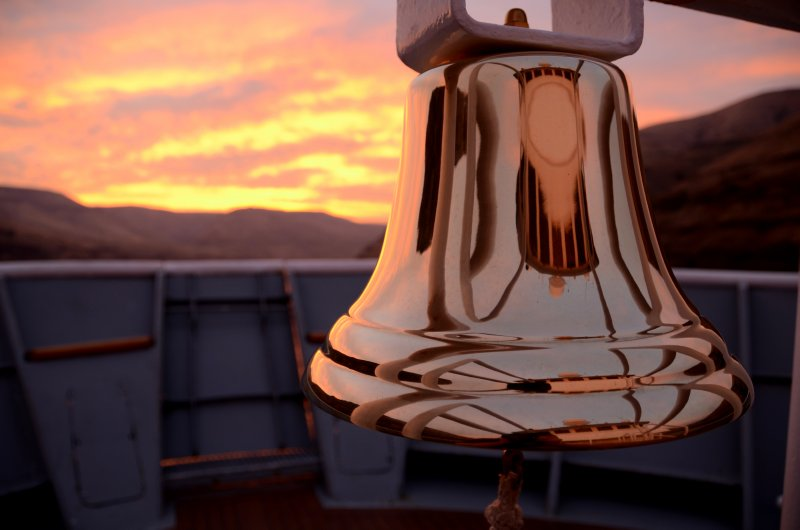 The Sea Bird's New Bell at Sunrise