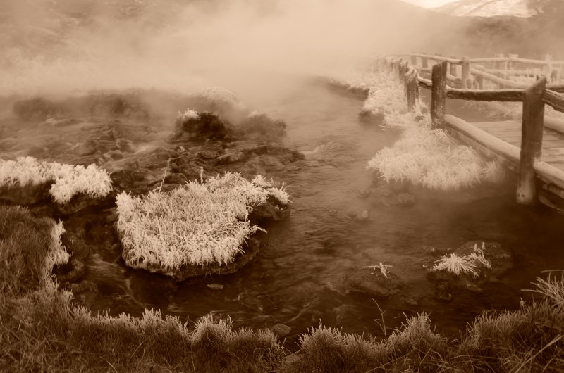 The Boiling River Hot Springs