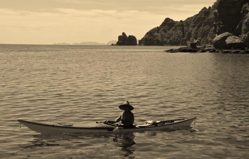Kayaker near Isla Danzante