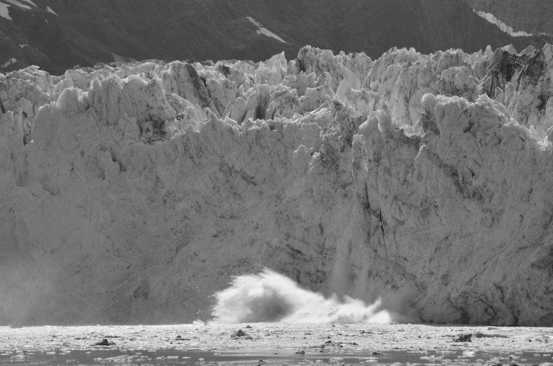 Backlit Glacier Fall