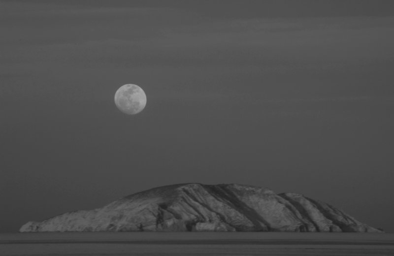 Moonrise and Island