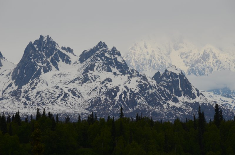 Hunter Mountain and Denali