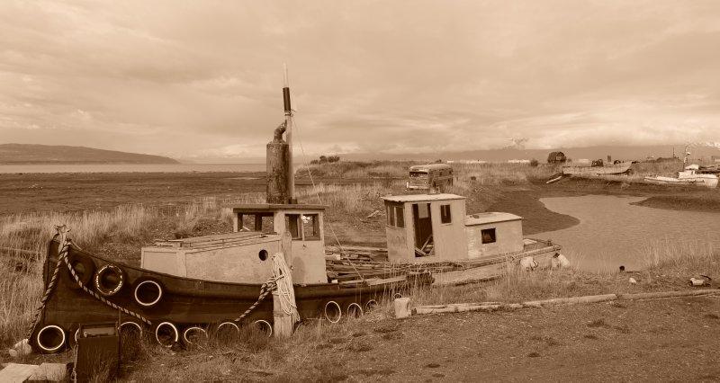 Decrepid Boat Scene