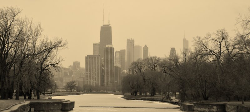 Frigid Chicago Scene