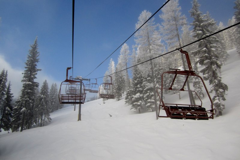 No. 2 Chairlift and Clearing Skies