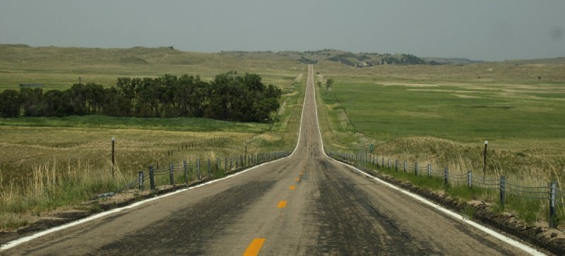 Nebraska Road Scene