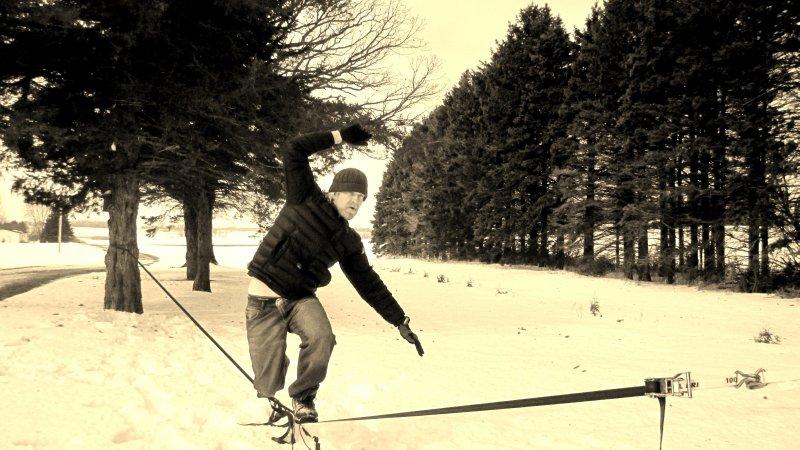 Winter Slack-Line