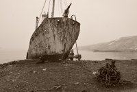 Beached Whaling Ship
