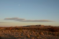 Rising Moon and Desert Landscape