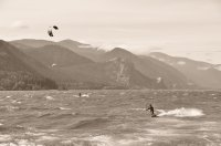 Kite Boarders on the Columbia River