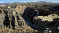 Self Portrait high above the Bighorn River