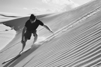 Sand Boarding the White Sand Dunes