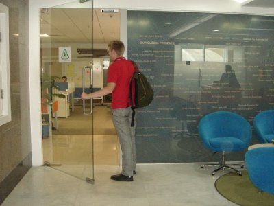 Entering the Ericsson office