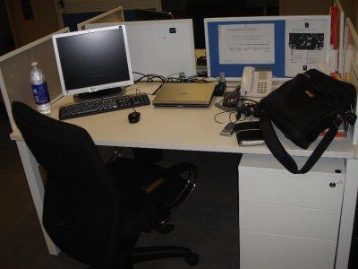 Morin's desk