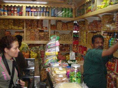Buying trekking snacks