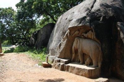 Stone hard elephant