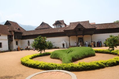 The entrance of the wooden palace