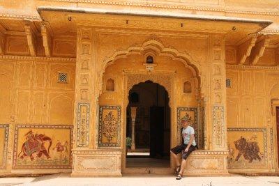 Descansando en Nahargarh Fort (El Fuerte del Tigre)