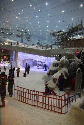 Pista de nieve dentro de un centro comercial