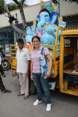me and my blue Ganesha