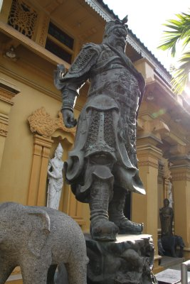 Impressive and angry statue outside the Buddhist temple