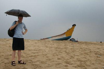 raining beach