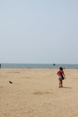 long empty beach
