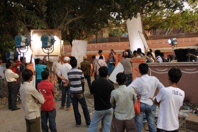Bollywood film set