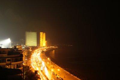 Marina drive by night