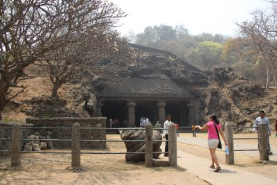 entering the Elephant caves
