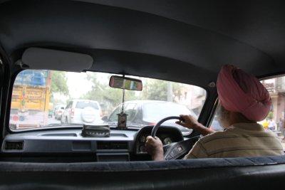 Delhi taxi driver