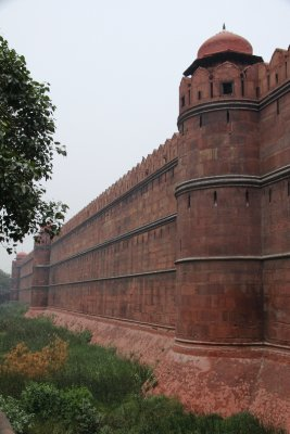 The great wall of Red Fort