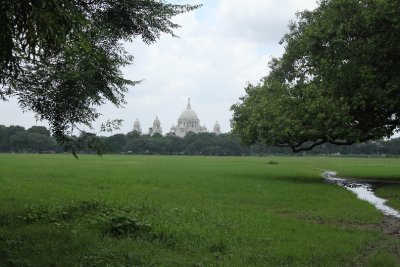 Maiden (the big park in the city) view of Victoria Memorial