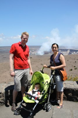 By the volcano
