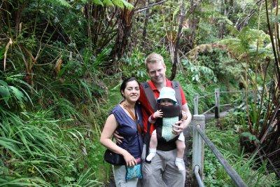 rain forest walk to lava tube