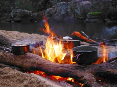 snowy river camp fire