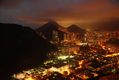 Rio by night from Sugar Loaf