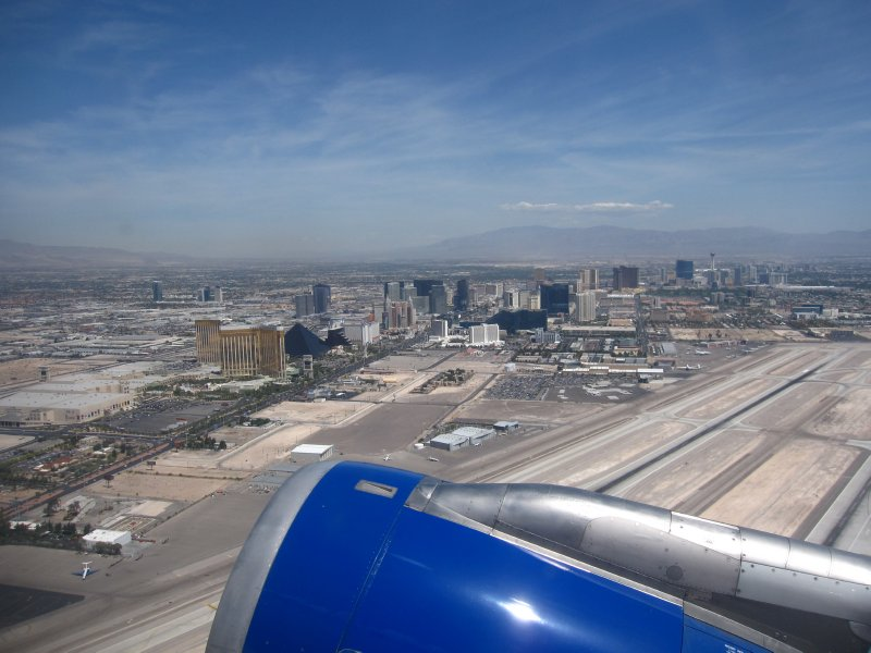Las Vegas from the Plane