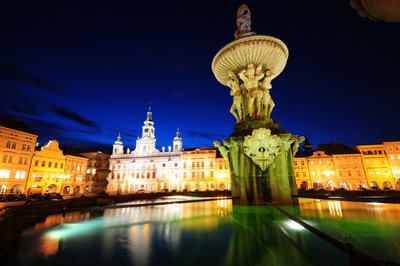 Budejovice, Samson fountain