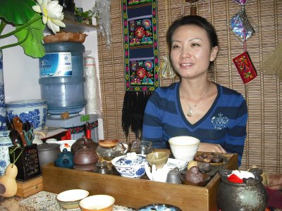 Tea in a little shop in the old town, Kunming