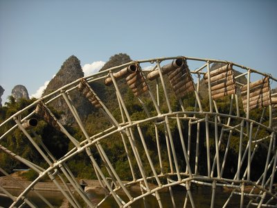Water wheel, Li River